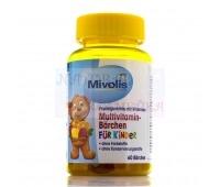 Немецкое качество витамины для детей Mivolis 60 мишек