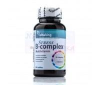 Витаминный В-комплекс, Стресс В-комплекс, Stress B-complex, Vitaking, Венгрия, 60 таблеток