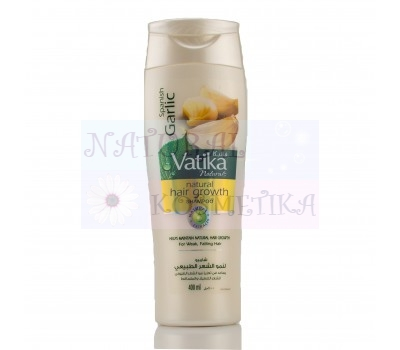 Чесночный шампунь для роста волос, Ватика / Dabur Vatika Garlic Shampoo / 400 мл