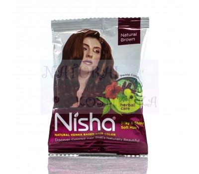 Хна Натуральная Коричневая, Ниша / Nisha / 15 gr