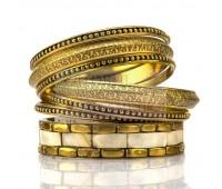 Набор браслетов со вставками из слоновой кости