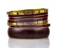 Набор браслетов - цветных и золотистых, 7 шт