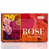 Ароматические конусы производство, Даршан, Darshan,  Rose / Роза Индия, 10 шт в пачке