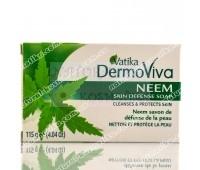 Мыло с нимом, антибактериальное, Ватика / Vatika Naturals Neem Antibacterial Soap / 115 г