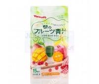 Аодзиру, Зеленый напиток- смузи фруктовый,   Morning Fruit Aojiru от компании Yakult, Япония, 15 пак