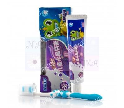 Детская зубная паста + щетка, подарочный набор / Япония