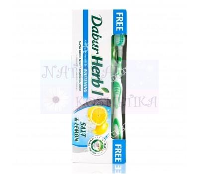 Зубная паста Соль и лимон, травяная  / Dabur Herb'l Salt and Lemon / 150 г