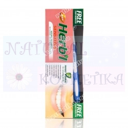 Зубная паста для чувствительных зубов, травяная, с зубной щеткой  / Dabur Herb'l Sensitive / 150 г
