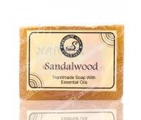 Аюрведическое натуральное мыло с сандалом, Ayurvedic natural soap with sandalwood, Magic of India, 115 - 130г