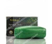 Аюрведическое натуральное мыло с сандалом и куркумой, Ayurvedic natural soap with sandalwood and turmeric, Vritikas, 100 г