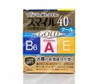 Японские глазные капли LION Smile 40 EX GOLD , Япония, 13 мл