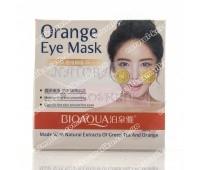 Тканевые патчи с апельсином и зеленым чаем / BioAqua Orange & Green Tea Eye Mask / 36 шт.