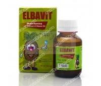Поливитаминный сироп с кальцием и витамином D3 для детей и взрослых Elbavit, Египет 60 мл