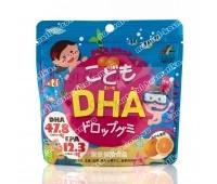 Витамины омега-3 для детей Unimat Riken DHA, со вкусом апельсина / 82 г ( 90 штук )