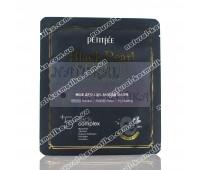 Гидрогелевая маска для лица с черным жемчугом и золотом Петитфи / Black Pearl&Gold / Petitfee / Корея / 1 шт
