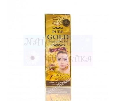 Тайская Коллагеновая сыворотка с био-золотом Darawadee / Darawadee pure golg brightening gel / 30 мл