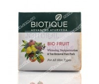 Био Фрукты - Отбеливающая, антипигментная маска / Bio Fruit Face Pack, Biotique / 75 г