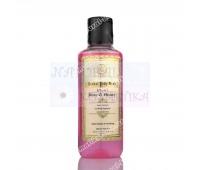 Травяной Кхади гель для душа роза и мед / Rose & honey body wash / 210 ml