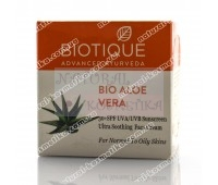 "Bio Aloe Vera (Био Алоэ Вера) Солнцезащитный крем для лица SPF 30 UVA / UVB ""Biotique"" / 50 гр"