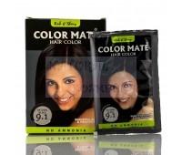 Хна травяная, черная, на натуральной основе, Color Mate, Natural Brown 9.1 / 15 гр
