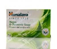 Антибактериальное мыло с Нимом и Куркумой, Гималая / Neem and Turmeric Soap, Himalaya / 75 gr