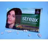 Краска для волос, Streax Hair Colour, Тёмно-коричневый, 20 г + 20 мл + 5 мл