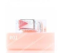 Двухцветная V-образная помада с эффектом увлажнения, lipstick Sanuo, 3,8 г