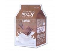 Тканевая маска с экстрактом какао и сливы с омолаживающим и антиоксидантным эффектом, A'Pieu Chocolate Milk One-Pack Корея 21 гр