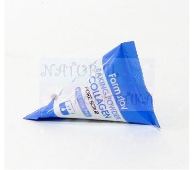 Скраб для лица в пирамидках Farmstay Baking Powder Collagen Pore Scrub 7g