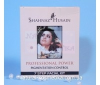 Набор против пигментации из 7 степеней / Shahnaz Husain Professional Power Pigmentation Control 7 Step Facial Kit / 6 пакетиков + тоник