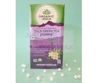 Зеленый чай, жасмин и тульси / Green tea, Tulsi, Jasmine, Organic India / 25 пакетиков