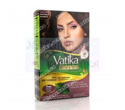 Краска на основе хны, коричневая 4,0 / Vatika Hair Colour Powder / 60 г (6 пакетиков по 10 г)