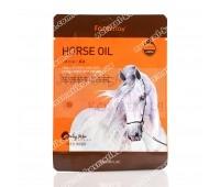 Питательная тканевая маска для лица с лошадиным маслом FarmStay Visible Difference Mask Sheet Horse Oil 23 мл