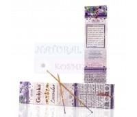 Аромапалочки пыльцовые Лаванда, Голока / Lavender Goloka Incense / 15 г