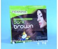 Крем-краска темно-коричневый цвет Patanjali Kesh Kanti 40 г