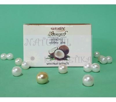 Питательный кокосовый крем / Saundarya coconut cream, Patanjali / 50 г