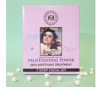 Набор для осветления кожи, 7 шагов, Шахназ / Shahnaz Husain Professional Power Whitening Treatment 7 Step Facial Kit / 6 пакетиков по 8 г, тоник-15 мл