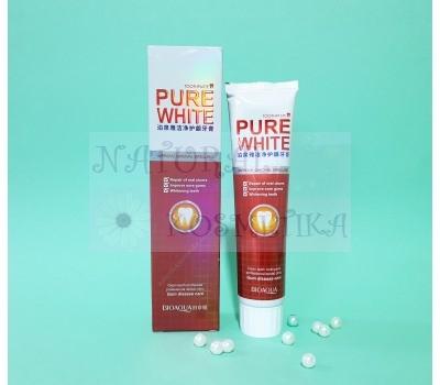 Гелевая отбеливающая зубная паста со вкусом клюквы / Pure White Toothpaste / BIOAQUA / Китай / 120 г