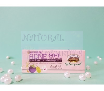 Гель лечебный c мангостином для проблемной кожи / Abhaibhubejhr Herbal Acne Gel / Таиланд / 15 мл