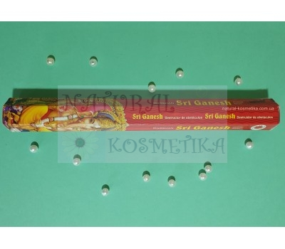 Аромапалочки Шри Ганеш, угольные / Incense Sticks Shri Ganesha, Darshan / 20 шт