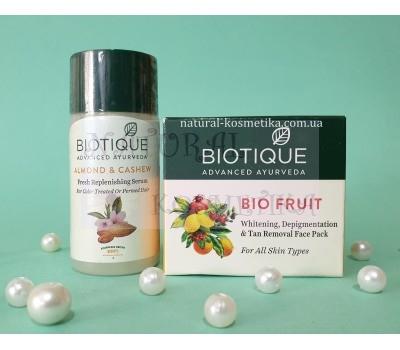 Набор Маска от пигментации Био Фрукты + сыворотка для волос, Биотик / Bio Almond & Cashew Replenishing Serum + Bio Fruit Face Pack