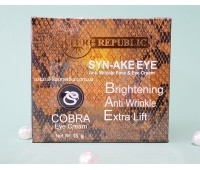 Крем для кожи вокруг глаз с эффектом ботокса и змеиным ядом / Nature Republic Syn-Ake Eye Anti Wrinkle, 15 г