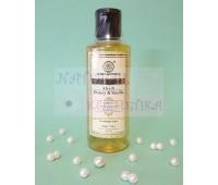 Индийский шампунь кондиционер Мед и ваниль, Кхади / Herbal Shampoo Honey and vanilla, Khadi / 210 мл