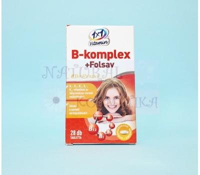 1x1 комплекс витаминов B+ фолиевая кислота покрытой оболочкой BioPerine, 28 табл.