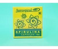 Спирулина в капсулах / Spirulina, Aurospirul / Индия / 100 капс.