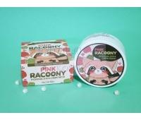 Гидрогелевые патчи (с енотом) с розовой водой и золотом / Pink Racoony / Sekret Key / 60 шт
