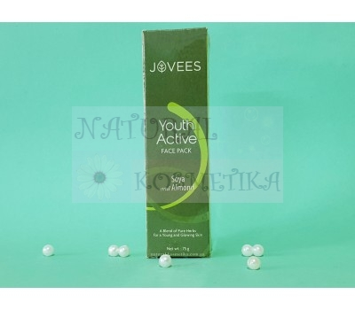 Укрепляющая маска для лица 30+ Соя и Миндаль Джовис / Youth Active Face Pack / Jovees / Индия / 75 г