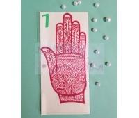 Трафареты для мехенди в форме руки, на всю кисть
