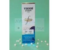 Средство для умывания и бриться с куркумой / Vicco Turmeric Cream with Foam Base / 70 г