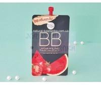 Корейский  бб крем для лица арбуз + томат SPF 45 / Baby Bright Watermelon & Tomato Matte BB Cream SPF45 PA++ 7 гр.